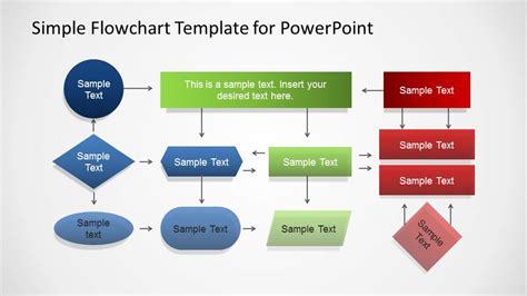 simple powerpoint flowchart diagram slidemodel