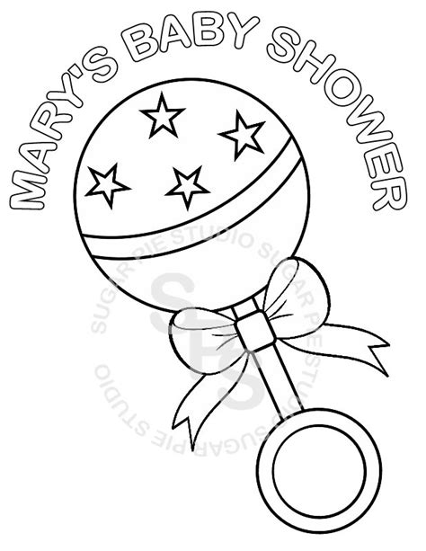 personalized printable baby shower favor by sugarpiestudio