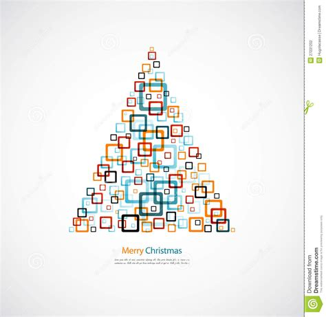 design is square christmas tree abstract square design stock illustration