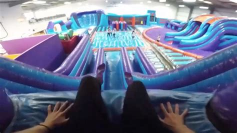theme park near manchester the uk s largest inflatable theme park is to be built near