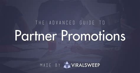 the advanced guide to partner promotions