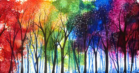 rainbow trees rainbow trees by annmariebone on deviantart