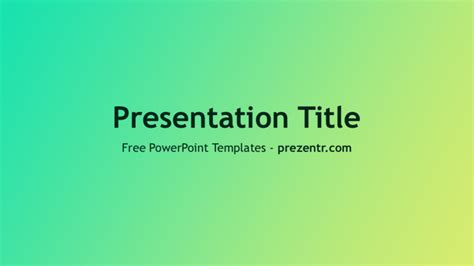 Free Flat Design Gradient Powerpoint Template Prezentr Flat Design Powerpoint Template