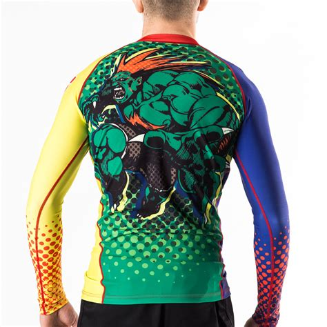Rashguard Baselayer Compression Spat Manset Bjj No Gi Fitness Run fighter blanka bjj rashguard fusion fight gear