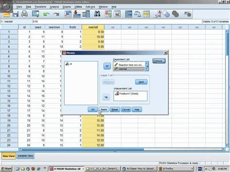 spss tutorial for data analysis anova tutorial pt 6 spss mixed anova youtube