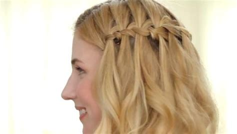 hairstyles braids dailymotion how to get an easy waterfall braid video dailymotion