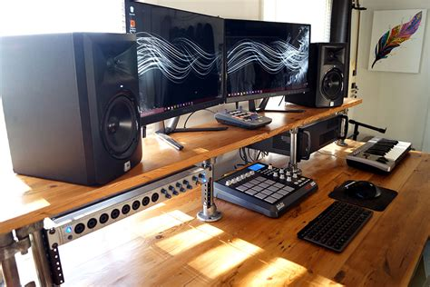 recording studio computer desk cody s home studio infamous musician