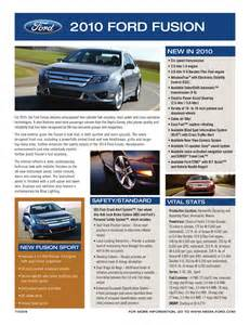 Ford Brochure Ford 2010 Fusion Sales Brochure