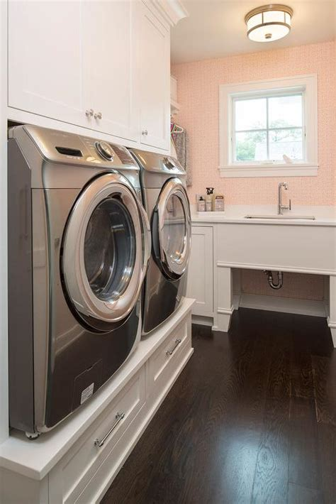 washer with built in laundry room cabinets above washer and dryer imanisr com