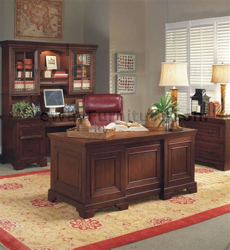 executive desk home office warm cherry executive desk home office collection