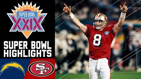 chargers 49ers bowl xxix recap chargers vs 49ers nfl