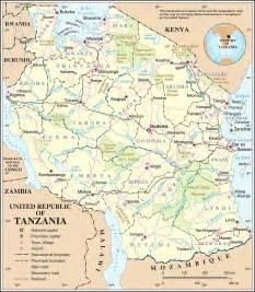 tanzania cities blank outline tanzania
