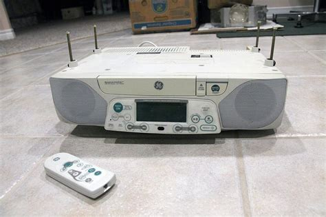 under radio cd player with light ge spacemaker stereo digital am fm cd player w counter