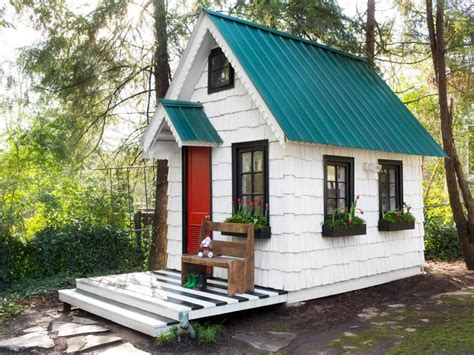 backyard playhouse low cost high impact ways to dress up a playhouse hgtv