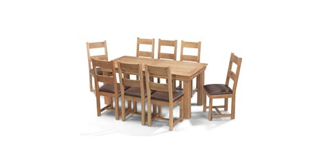 oak dining table and 8 chairs breton oak 180 cm dining table and 8 chairs lifestyle