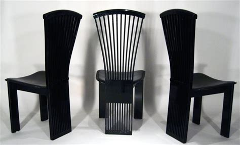 set of 6 black lacquer dining chairs at 1stdibs igavel auctions set of 6 black lacquer and leather dining