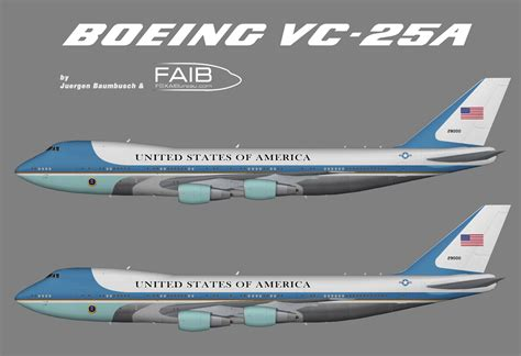 color air ones usaf 89th airlift wing air one boeing 747 2g4b vc