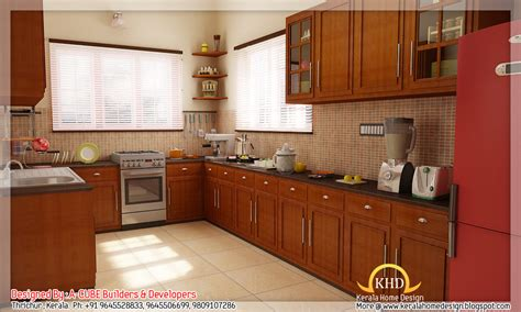 home design interior kitchen 3d interior renders kerala home design and floor plans
