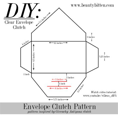 clutch purse templates diy clear envelope clutch beautybitten a personal
