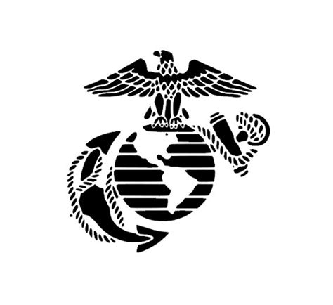usmc marine corps eagle anchor globe stencil for painting anchor clipart eagle globe pencil and in color anchor