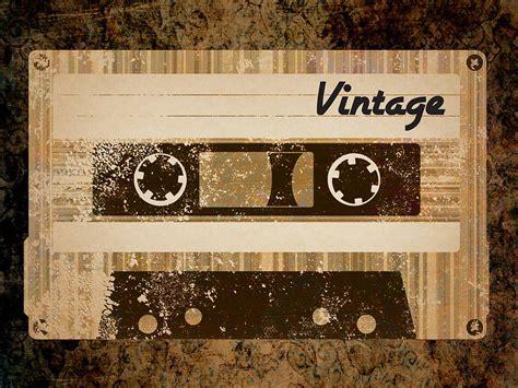 vintage cassette vintage cassette digital by ponte