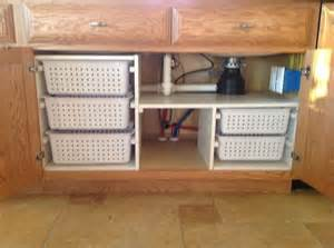 Bathroom Sink Organizer Ideas by Under Kitchen Sink Organization My Husband Built For