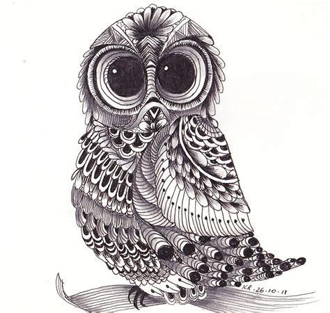 zentangle owl pattern quot zentangle owl quot by kerryn rowe redbubble