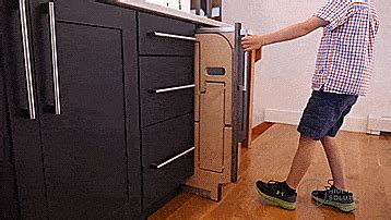 Cabinet Pull Out Step Stool by Folding Step Stool Pulls Out From Cabinet