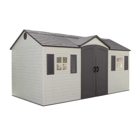 lifetime sheds lifetime side entry 15 ft w x 8 ft d plastic storage shed reviews wayfair