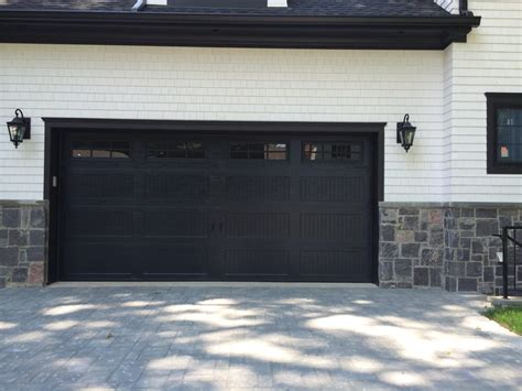 Garage Doors Black Installation Of Haas 664 17 0 Quot X8 0 Quot Black Carriage House Panel Design Stockton Style