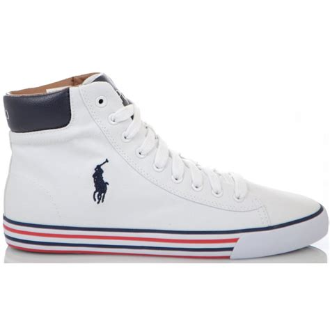 ralph shoes harvey ne white high top canvas