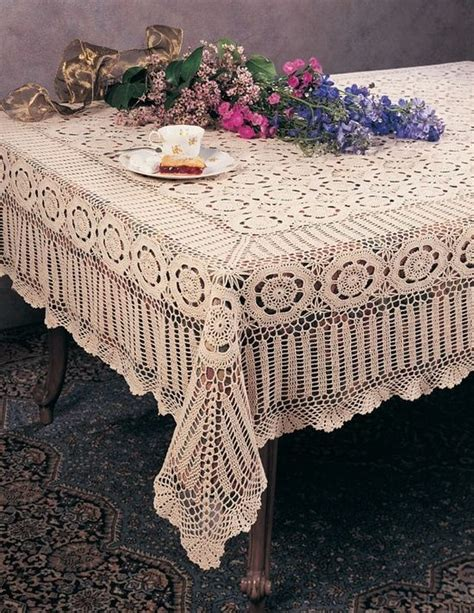 Handmade Crochet Tablecloths For Sale - beautiful lace table cloth vintage crochet tablecloth