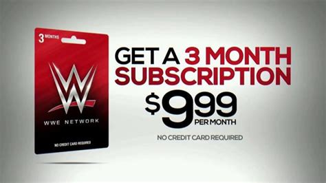 Wwe Network 3 Month Subscription Gift Card - wwe network 3 month subscription gift card tv commercial family entertainment