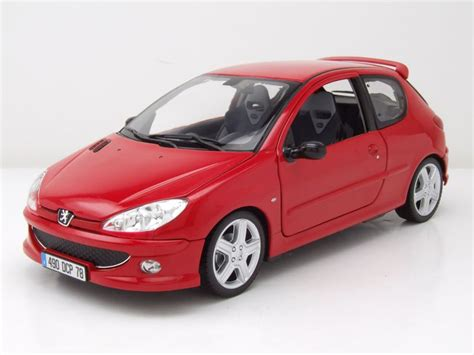 Modell Auto by Peugeot 206 Rc 2003 Rot Modellauto 1 18 Norev 58 95