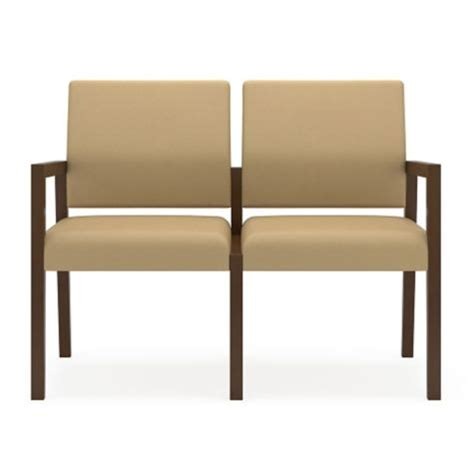 lesro office furniture 2 seat guest chair in poly by lesro
