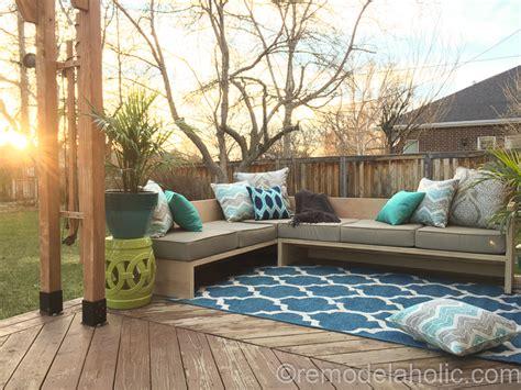 diy outdoor sofa sectional diy outdoor sectional sofa tutorial building plan