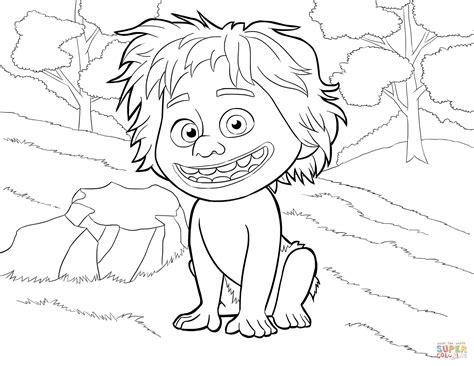spot from the good dinosaur coloring page free printable