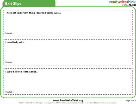 exit ticket template download free premium templates