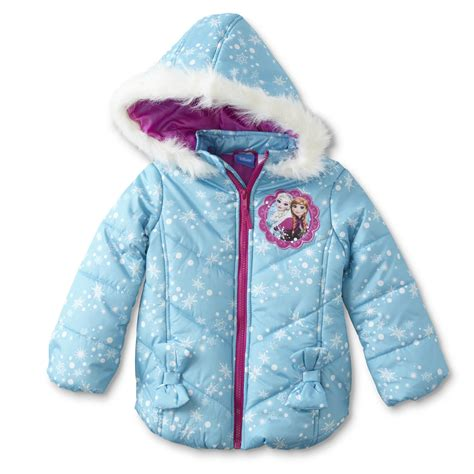 Jacket Frozen disney frozen toddler hooded puffer coat