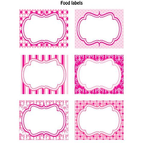 cute labels templates and free printables pinterest