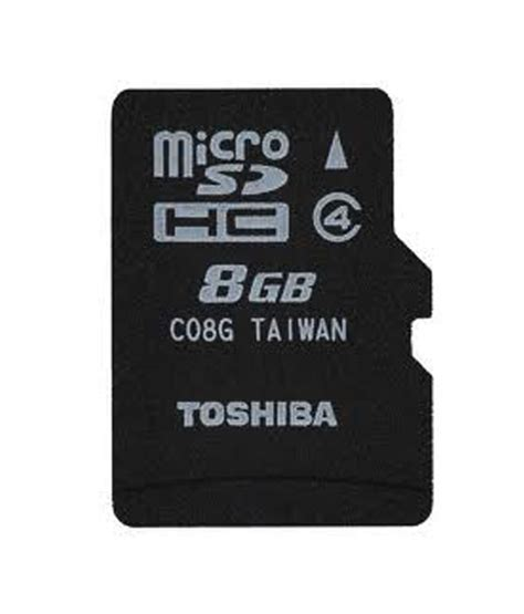 Microsd 8gb toshiba 8gb micro sd card class 4 memory cards at low prices snapdeal india