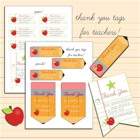 printable teacher thank you gift tags 428 best teacher appreciation gift ideas images on