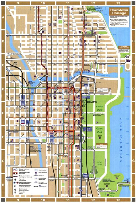 map of downtown chicago map chicago downtown swimnova