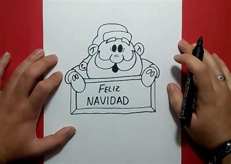 como dibujar a santa claus dibujos de navidad para draw como dibujar un algodon de azucar kawaii paso a paso