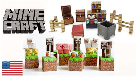 Minecraft Papercraft Animal Mobs Set - minecraft paper craft animal mob utility set how to make