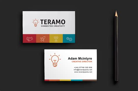 sided card template clean and professional sided business card template