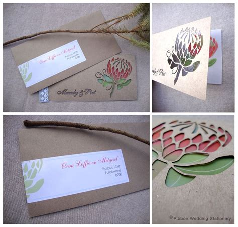 wedding invitations pretoria east protea invitation wedding wedding