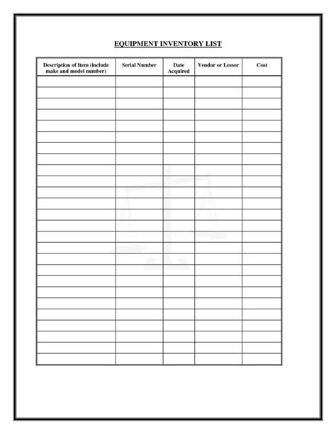 inventory list template excel free inventory spreadsheet free inventory