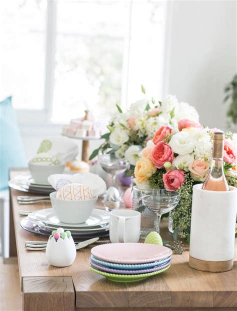 Easter Decorations And Centerpieces Crate And Barrel A Perfectly Pastel Easter Brunch Crate And Barrel