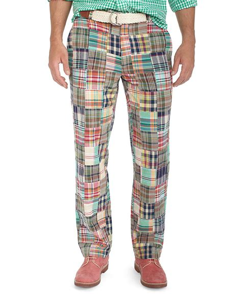 brothers clark plainfront patchwork madras